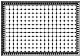 Diamant vloer zwart/wit