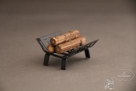 Houder met hout