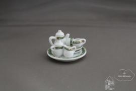 """Koffieservies """"groene art"""""""