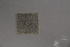 Metalen vierkant ornament