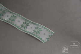 Sneeuwvlok lint groen