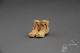 Hoge heren schoenen beige
