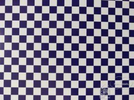 Tegelvloer blauw/wit