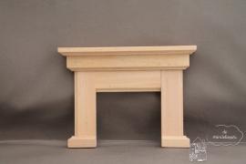 Schoorsteenmantel blank hout