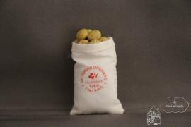 Open zak met aardappelen