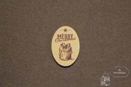 "Tekstbord ""Merry Christmas"" ovaal"