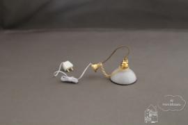 Hanglamp met zwart randje