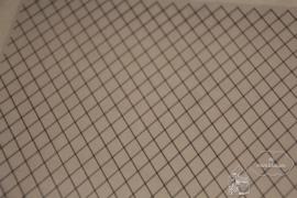 Plastic glas met diamant vorm