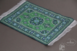 Blauw/ groen vloerkleed