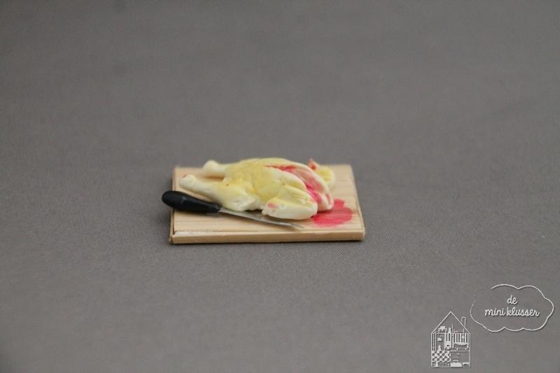 Snijplank met kip