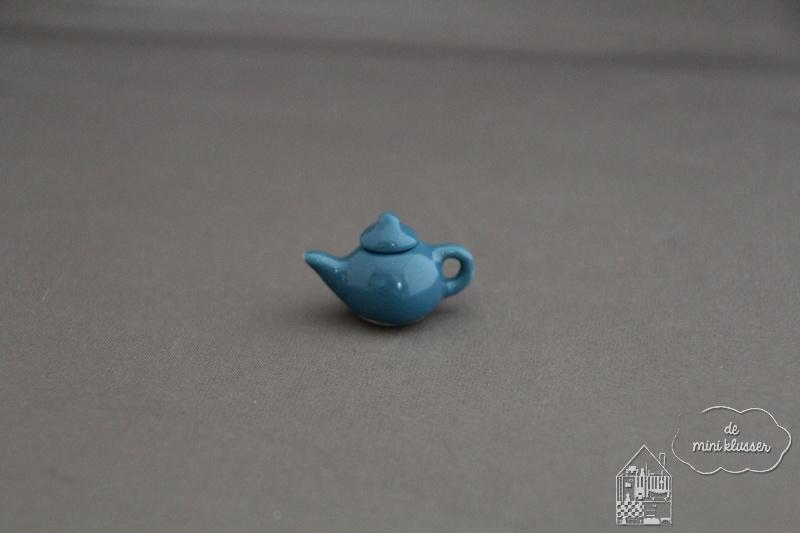Theepot blauw