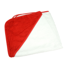 Babycape Wit-Rood 75 x 75 cm