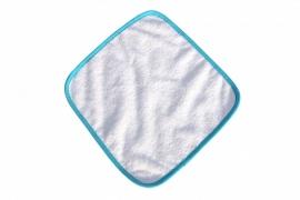 Spuugdoekje Wit / Zeeblauw 035.50 White / Aqua Blue