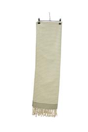 Hamam Bodrum Deluxe 100 x 180 cm Olijfgroen - Ivoor