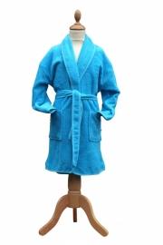 Kinderbadjas Sjaalkraag Zeeblauw