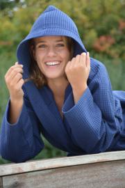 Wafel Badjas Marineblauw