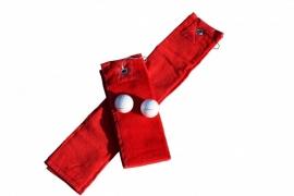 Golfhanddoek de Luxe Rood 014.50 Fire Red