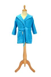 Kinderbadjas met capuchon Zeeblauw