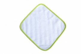 Spuugdoekje Wit / Lichtgroen 035.50 White / Lime Green