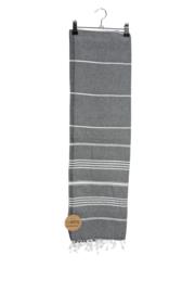 Haman Patai 100 x 180 cm Donkergrijs-Wit
