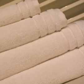 Organische strandlakens 600 gram 100 x 180 cm Gebroken Wit
