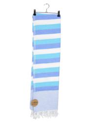 Haman Patai 100 x 180 cm Wit-Zeeblauw-Blauw