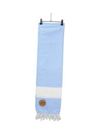 Hamam Marmaris Deluxe 100 x 180 cm Lichtblauw - Wit