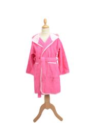 Kinderbadjas met capuchon Roze - Lichtroze