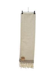 Hamam Bodrum Deluxe 100 x 180 cm Bruin - Ivoor