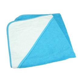 Babycape Zeeblauw-Wit 75 x 75 cm