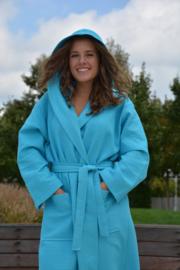 Wafel Badjas Zeeblauw
