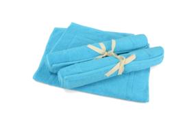 Badmat Zeeblauw 50 x 80 cm