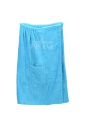 Sauna Kilt Dames met klittenband - Zeeblauw