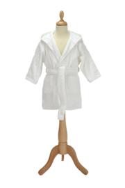Kinderbadjas met capuchon Wit