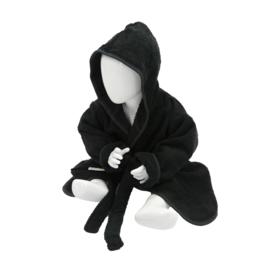 Babybadjas met capuchon Zwart