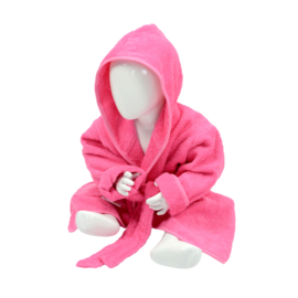 Babybadjas met capuchon Roze - Lichtroze
