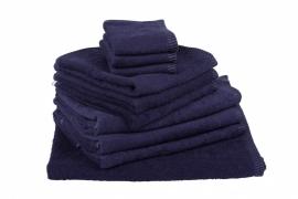 Handdoekenset Marineblauw 350 gram