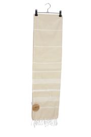 Haman Patai 100 x 180 cm Zandkleur-Wit
