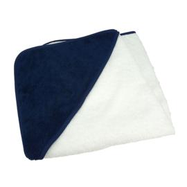 Babycape Wit-Marineblauw 75 x 75 cm