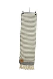 Hamam Bodrum Deluxe 100 x 180 cm Zwart - Ivoor