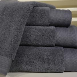 Luxe handdoeken Donkergrijs 700 grams 60 x 110 cm