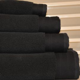 Luxe handdoeken Zwart 700 grams 60 x 110 cm