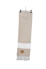 Hamam Marmaris Deluxe 100 x 180 cm Zandkleur - Wit