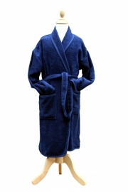 Kinderbadjas Sjaalkraag Marineblauw