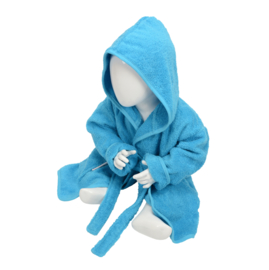 Babybadjas met capuchon Zeeblauw
