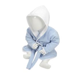 Babybadjas met capuchon Lichtblauw - Wit
