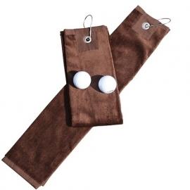 Golfhanddoek de Luxe Bruin 014.50 Chocolate Brown