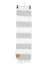 Haman Patai 100 x 180 cm Wit-Lichtgrijs
