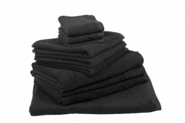 Handdoekenset Zwart 350 gram