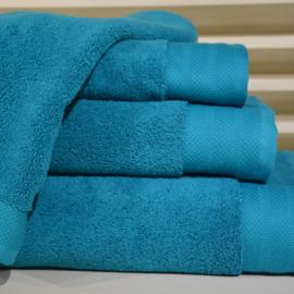 Luxe handdoeken Petrol 700 grams 60 x 110 cm